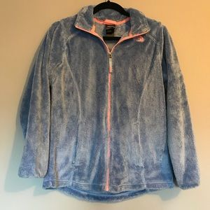 North Face Periwinkle Fuzzy Zip Up